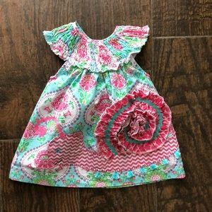 Mudpie Smocked Snail Dress